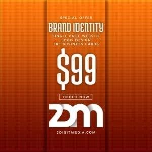 2 Digit Media Brand Identity