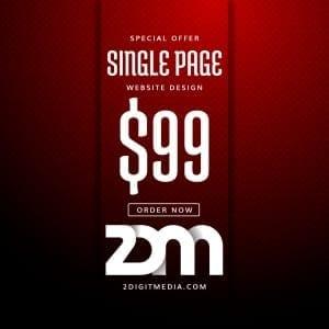 2 Digit Media Single Page Design